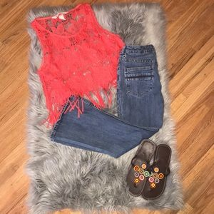 Free People cropped jeans